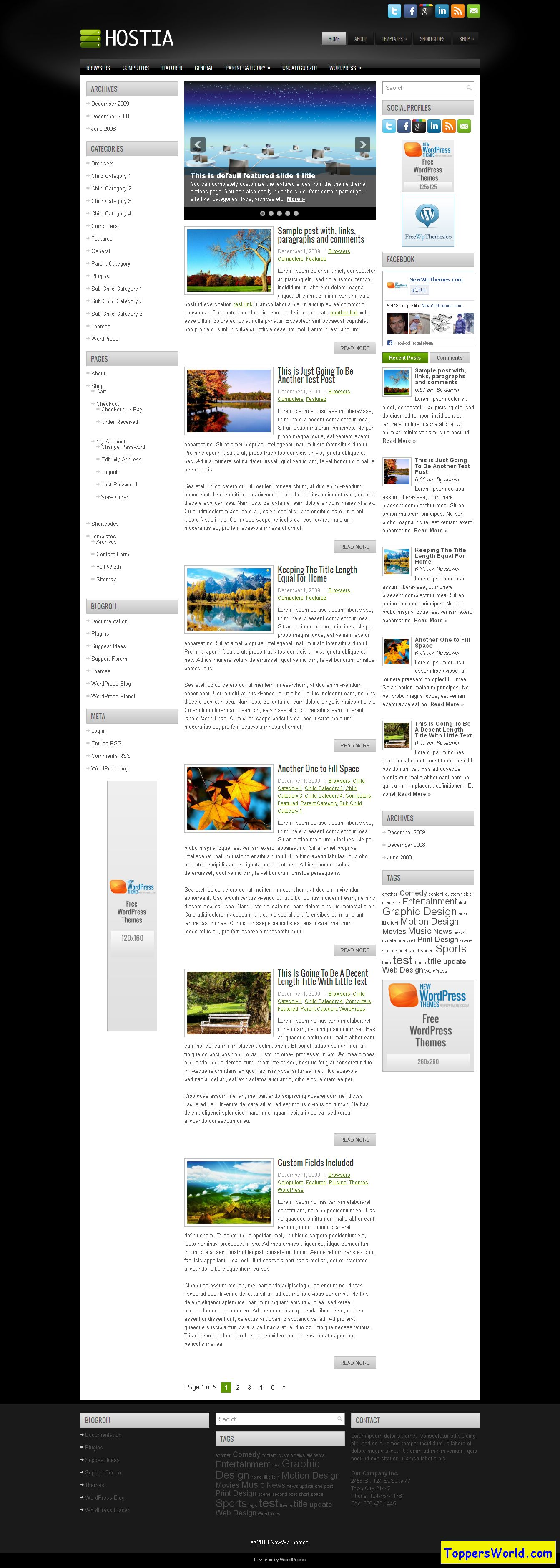 NewWpThemes Demo Hostia hosting theme