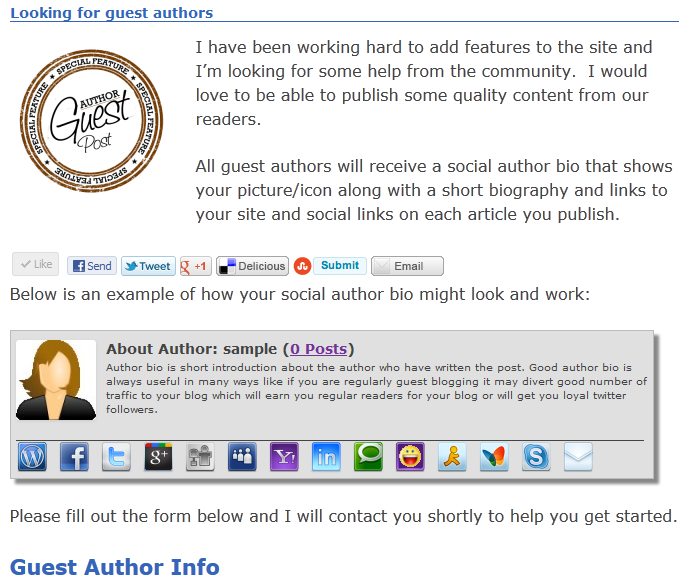 Social Author Bio plugin