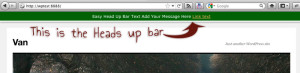 easy heads up bar plugin