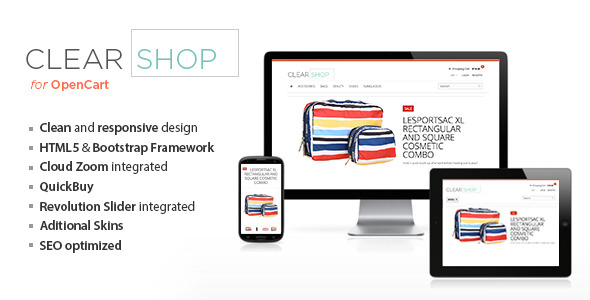 Clearshop Responsive OpenCart Theme