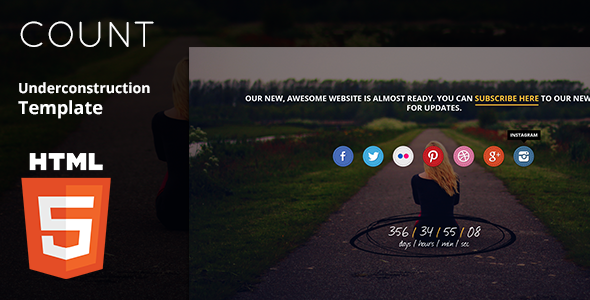 Count Under construction HTML5 Template