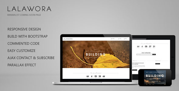 LalaworaComing Soon Responsive Construction Area Template