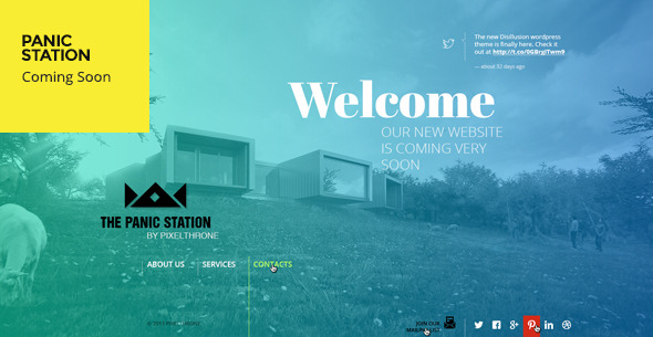 Panic Station Responsive Coming Soon Page Template