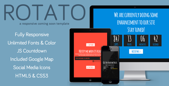 Rotato Responsive Under Construction Template