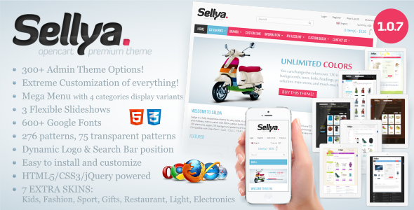Sellya OpenCart Theme