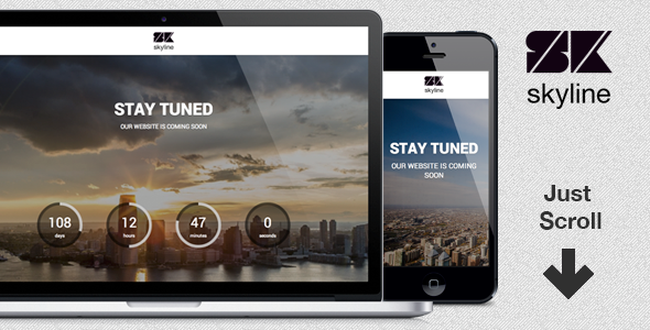 Skyline Coming Soon Page Template