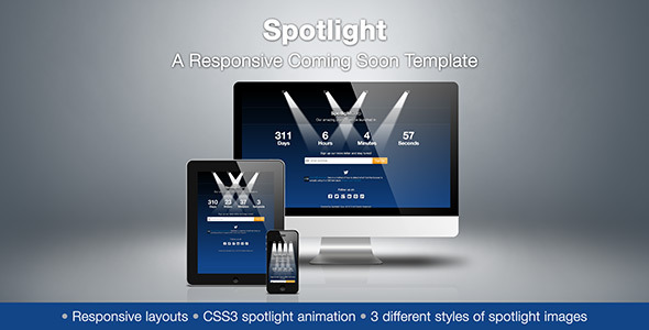 Spotlight A Responsive Coming Soon Template