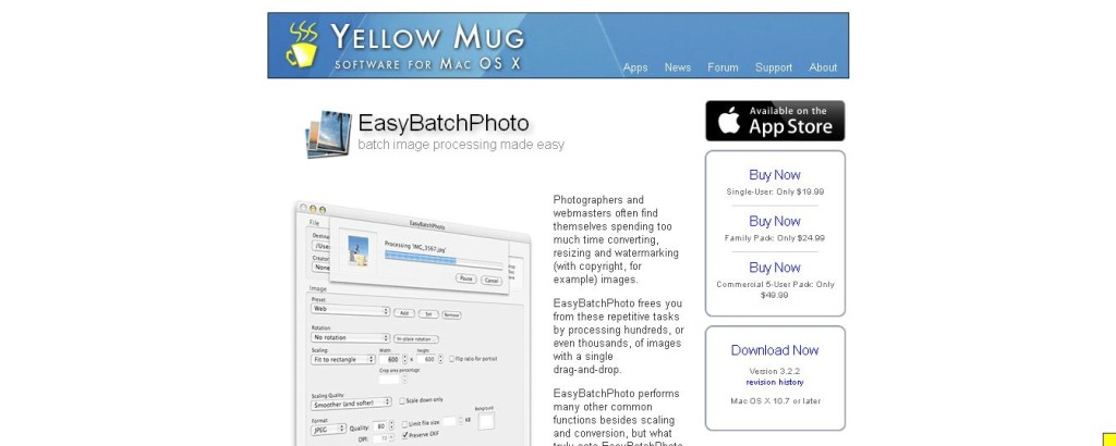 EasyBatchPhoto for Mac OS X - Batch image processing