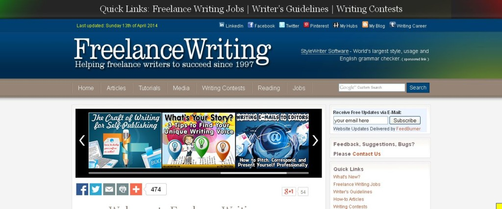 freelance writing contests Oh, and don't make your story about a writer who is participating in a writing contest but who can't come up with an idea on the topic we always get a couple of.