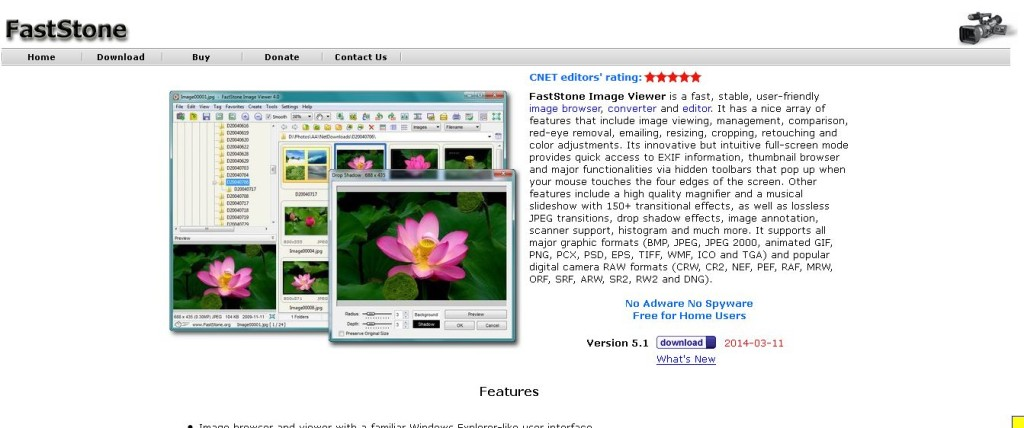 FastStone Image Viewer Photo Viewer, Editor and Batch Converter