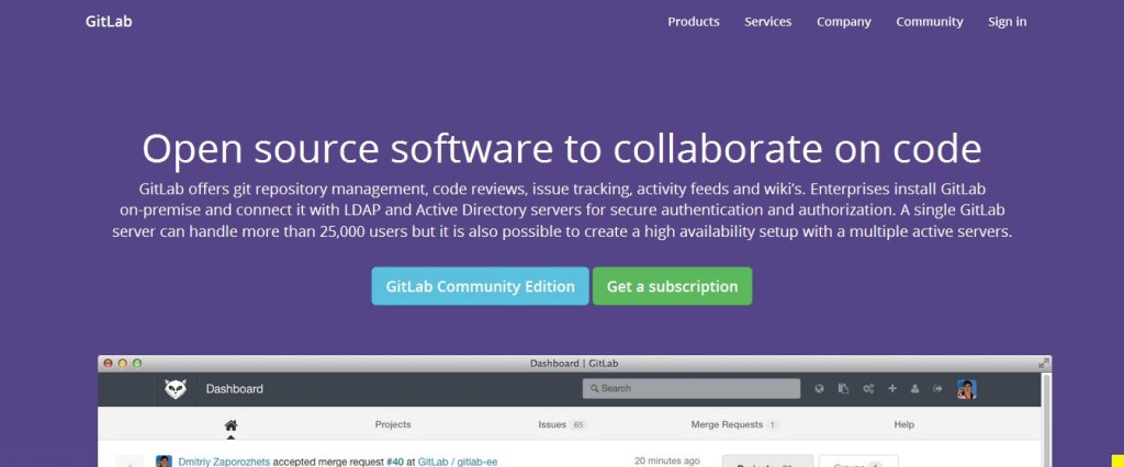 GitLab Open Source Git Management Software
