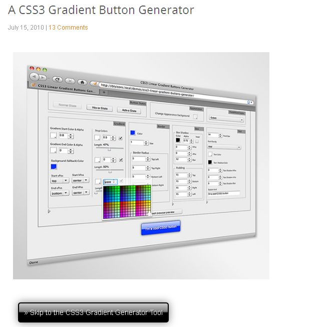 CSS3 Gradient Button Generator I DryIcons