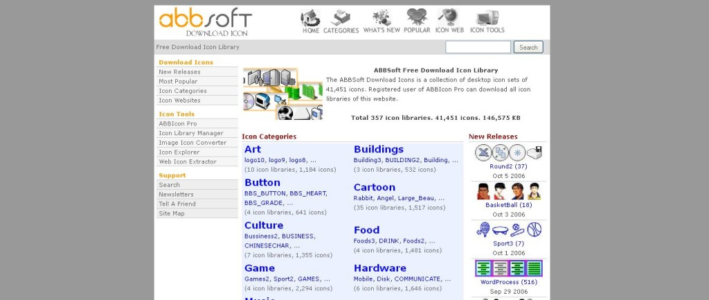 ABBSoft Free Download Icon Library cartoons, buttons, software