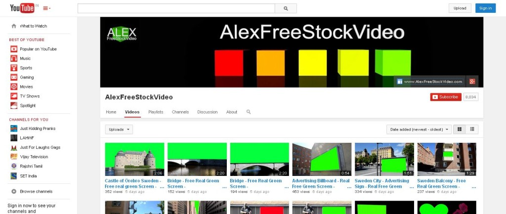 AlexFreeStockVideo - YouTube