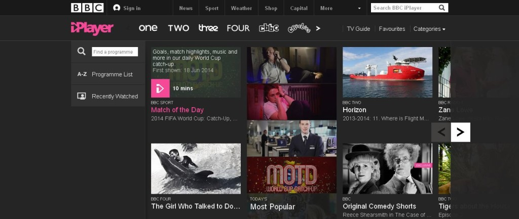 BBC iPlayer fIFA WORLD CUP