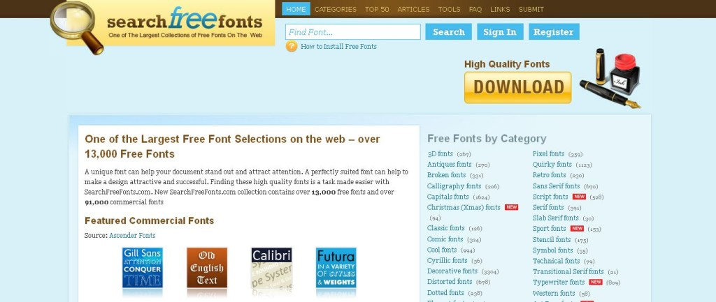 Download Free Fonts Search Free Fonts