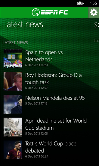 ESPNFC Windows Phone Apps World Cup Score