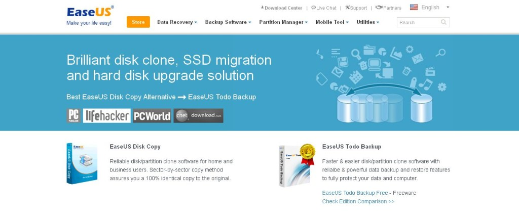 EaseUS Disk Copy Freeware - Free Disk Copy, Disk Clone Software download to Clone Hard Drive