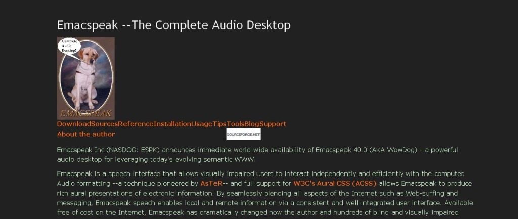 Emacspeak --The Complete Audio Desktop