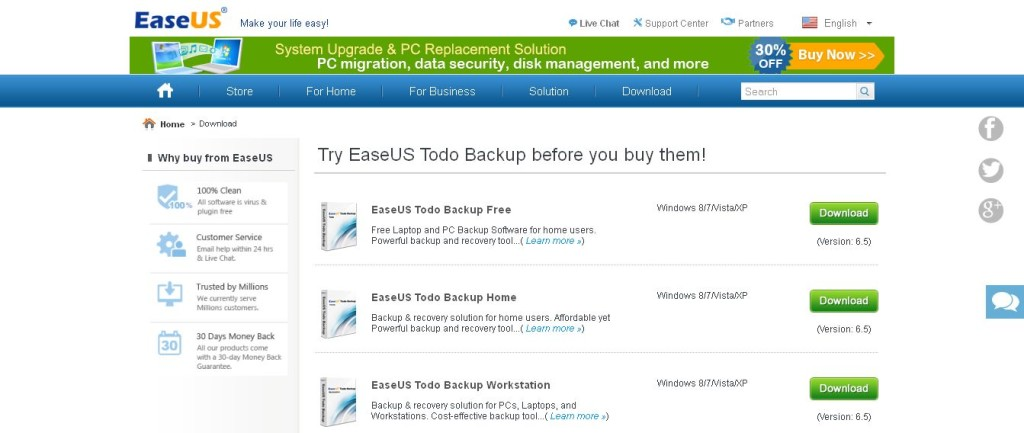 Free Download EaseUS Todo Backup Freeware and Trial version_ Complete Backup and Restore Software for Windows Linux