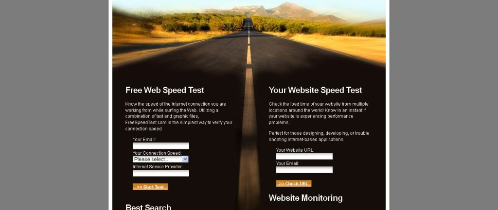 Free Speed Test for Internet Connection, Access and Website Speed