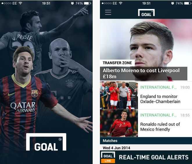 Goal_com on the App Word Cup Live score