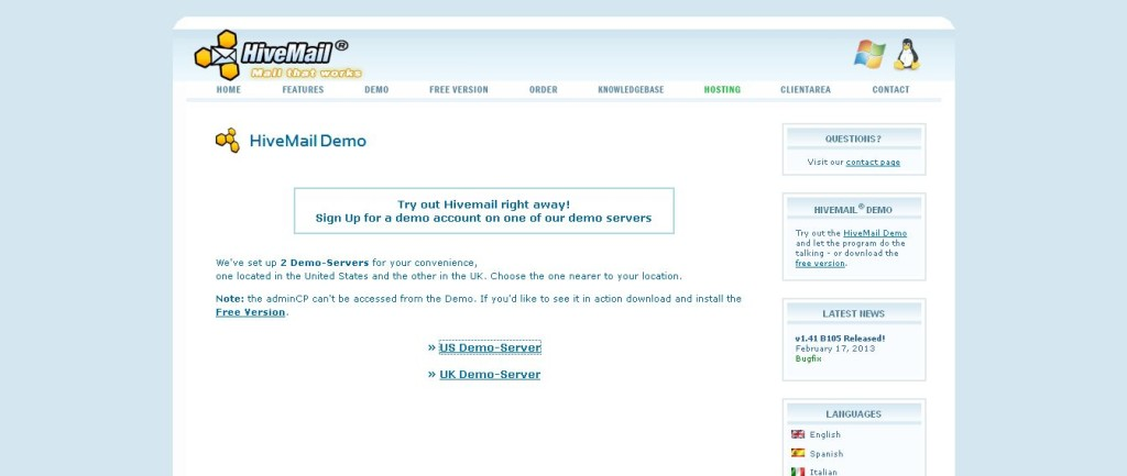 HiveMail Check out the Demo