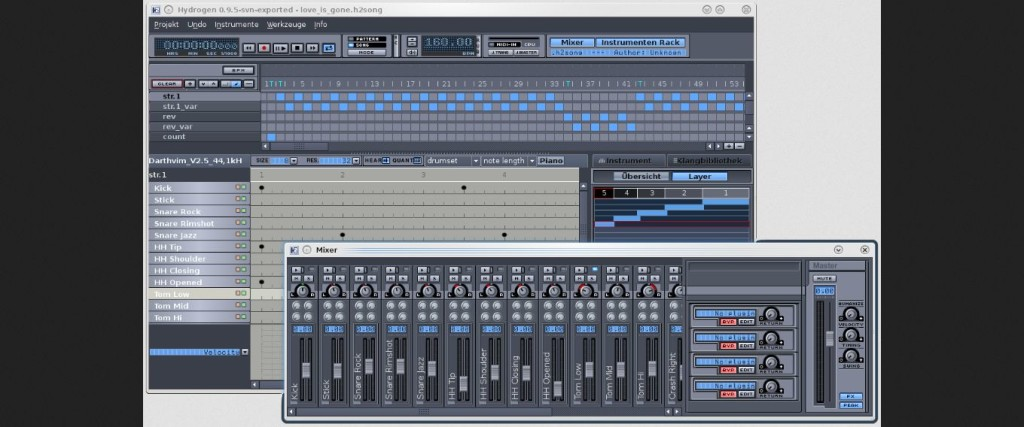 Hydrogen Audio editor software