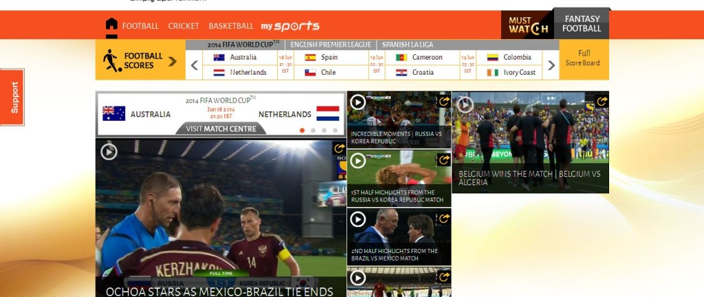 LIVSports_in Live Football FIFA World Cup 2014 Scores,