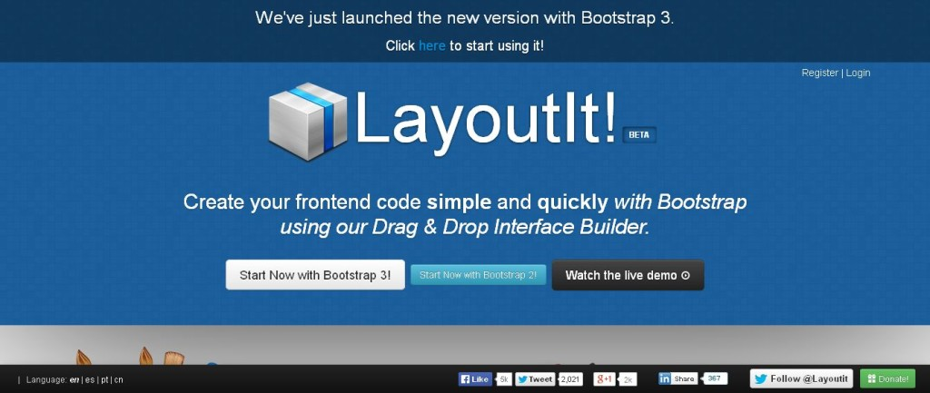 LayoutIt! - Interface Builder for Bootstrap