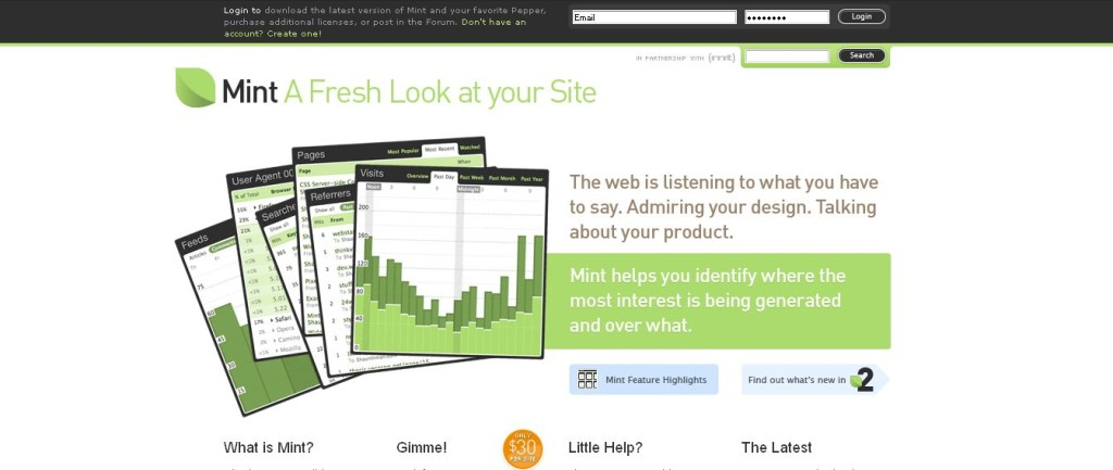 Mint_ A Fresh Look at your Site