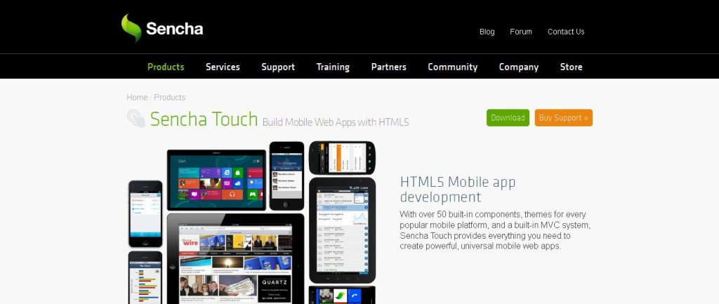 Mobile App Development Framework_ JavaScript and HTML5_ Download Sencha Touch Free Sencha Touch