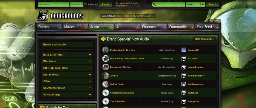 Newgrounds_com Audio Portal