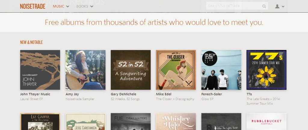 NoiseTrade Thousands of Albums Completely Free Legal