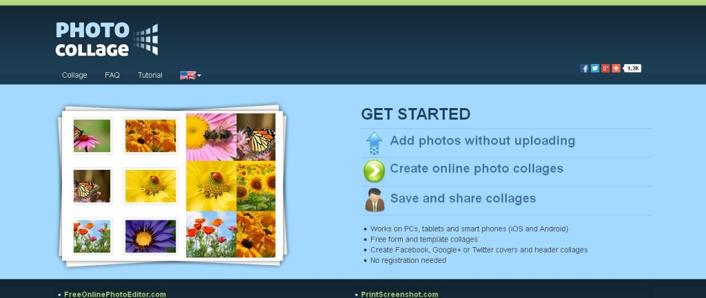 PhotoCollage Create online photo collages