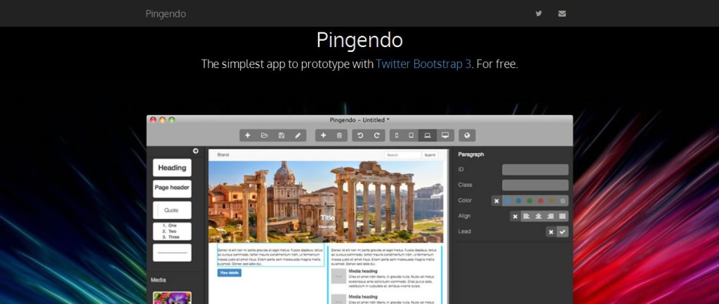Pingendo - web authoring with comfort