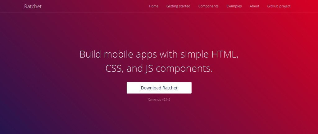 Ratchet Framework for HTML5, CSS