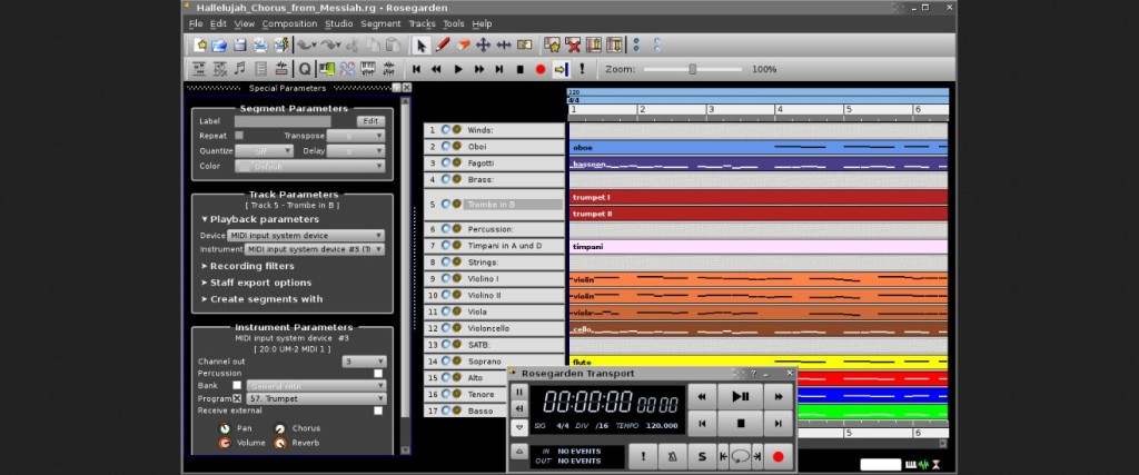Rosegarden Audio editor