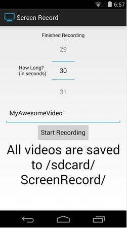 Screen Record (for KitKat+) Android Apps