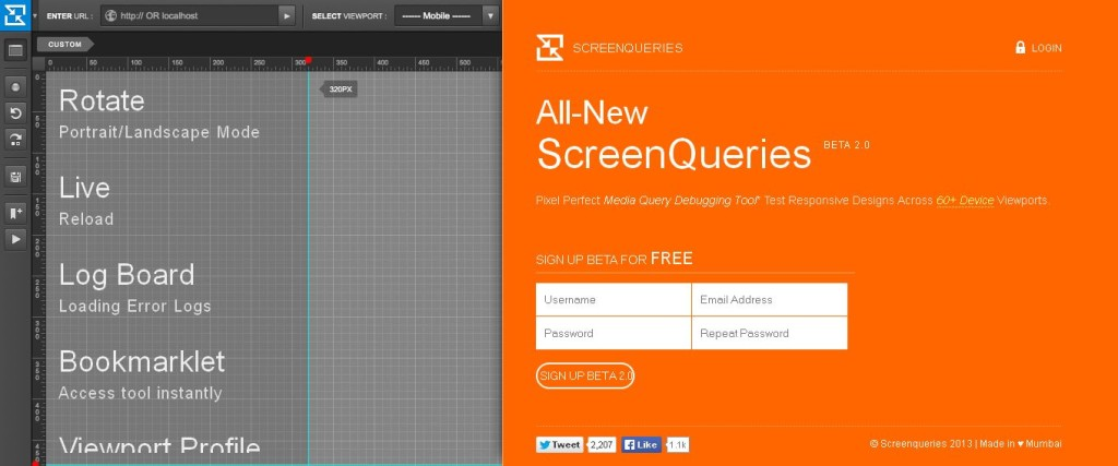 ScreenQueries Pixel Debugging Responsive Design Testing Tool