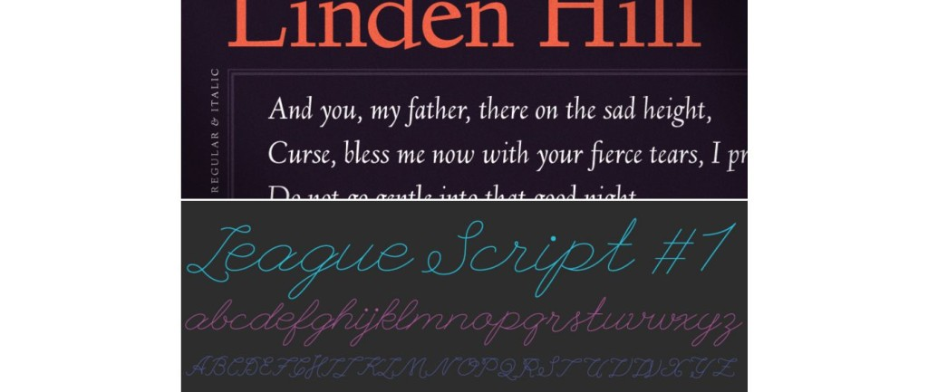 The League of Moveable Type font