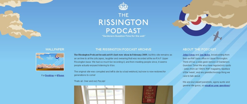 The Rissington Podcast for the web