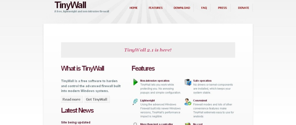TinyWall - A free, lightweight and non-intrusive firewall
