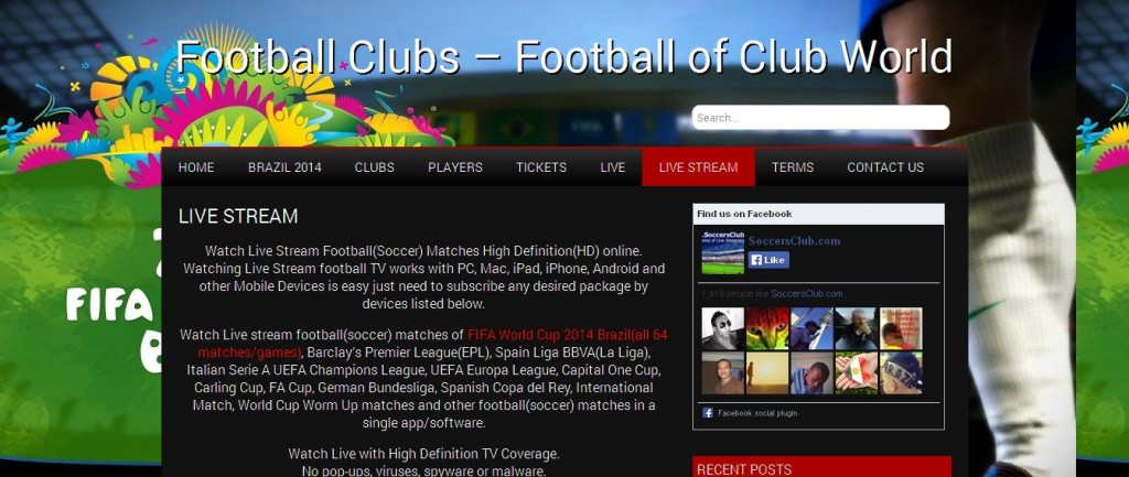 Watch Football(soccer) Live Stream PC, Mac, iPad, iPhone, Android