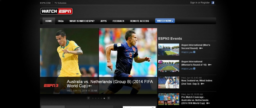 Watch Live Sports FiFA Online and on Mobile