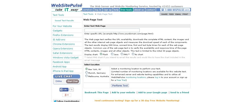 Web Page Load Speed Test by WebSitePulse