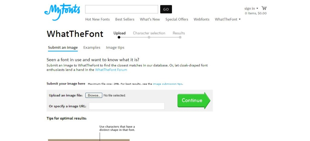 WhatTheFont Font detection tool