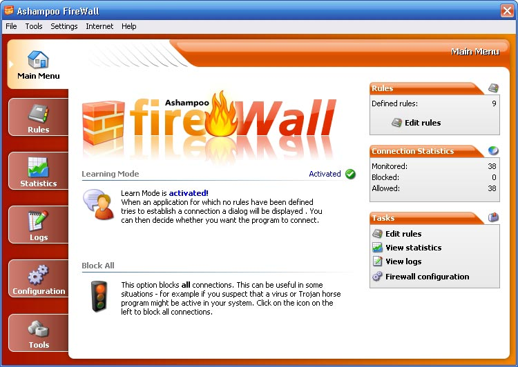 ashampoo security software FireWall FREE