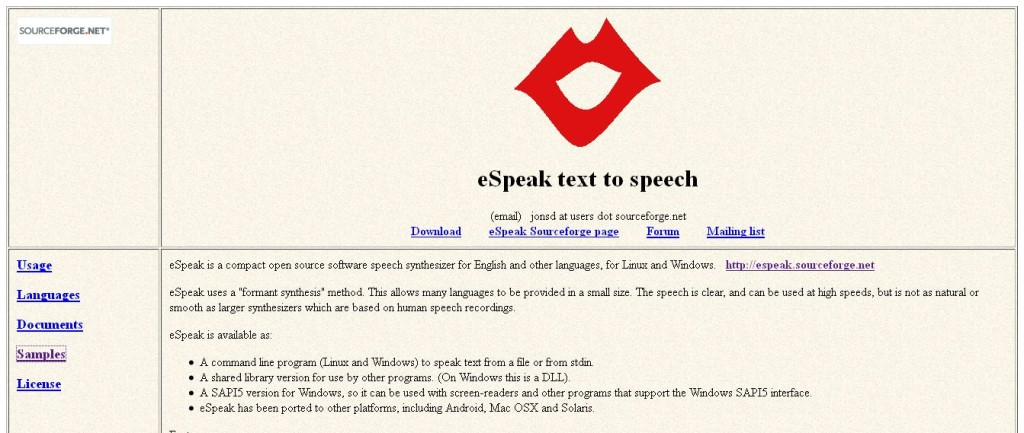 eSpeak_ Speech Synthesizer