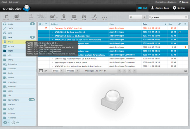 roundcube Webmail open free